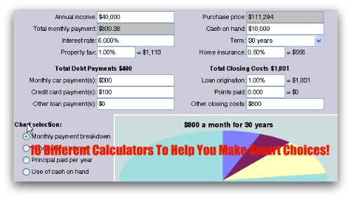 16 Different Mortgage and Budget Calculators